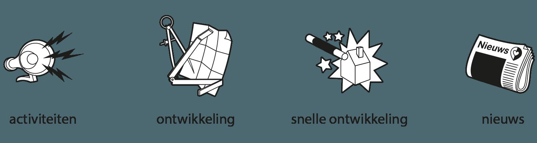 iconen ontwerp plattegrond Emmeloord